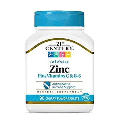 21st Century Zinc Chewable with C and B6, Cherry Chew, 90 Count