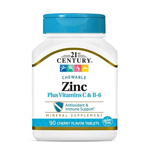 21st Century Zinc Chewable Withc & B6 - Cherry, 90 Count