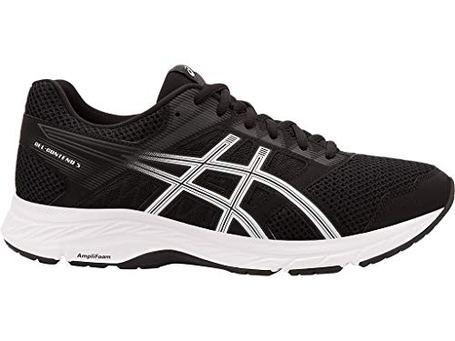 ASICS Men's Gel-Contend 5 Running Shoes, 9.5M, Black/White