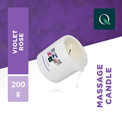 Massage-kaars wellness-massage kerstcadeau massage-olie exotiq massagekaars Violet Rose