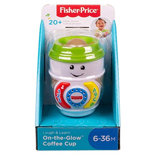 Fisher-Price GHJ04 Laugh & Learn On-The-Glow koffiekopje, interactief babyspeelgoed, meerkleurig