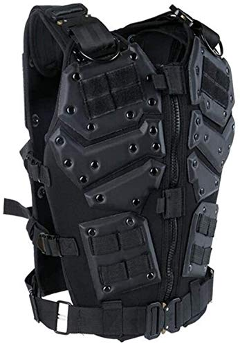 Coole atletiek Airsoft Tactical Fighter kogelvrije vest Transformers SWAT strijdkrachten paintball war games Schieten jacht vest training hjm zhanshubeixin (Color : Black)