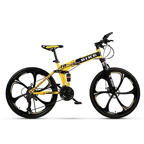 Novokart-Sport Pieghevole/Mountain Bike 24/26 Pollici 6 taglierina, Giallo