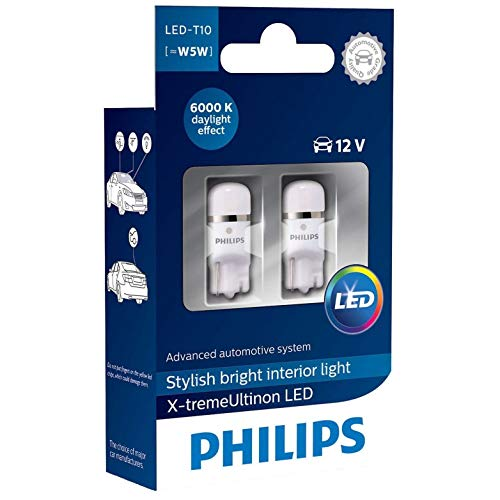 Philips 127996000KX2 X-treme Vision LED T10 6000K CeraLight Uniform 360°