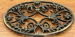 Home Decor- Oval Ornate Cast Iron Trivet