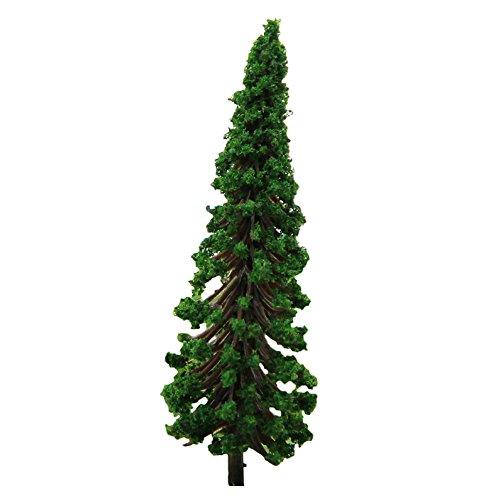 Demarkt Kunststoff Modell Bäume Miniatur Bäume Landschaft DIY Dunkelgrün 6.5cm