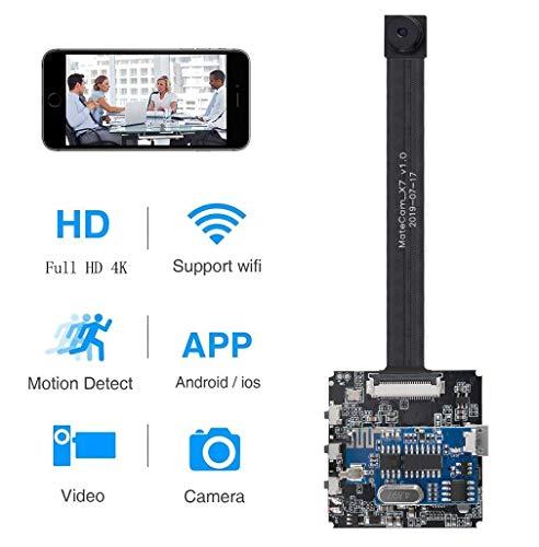 4k Real WiFi Mini Kamera, Tragbare Kleine Überwachungskamera, Mikro Nanny Cam mit Bewegungserkennung Compact Sicherheit Kamera für Innen und Aussen