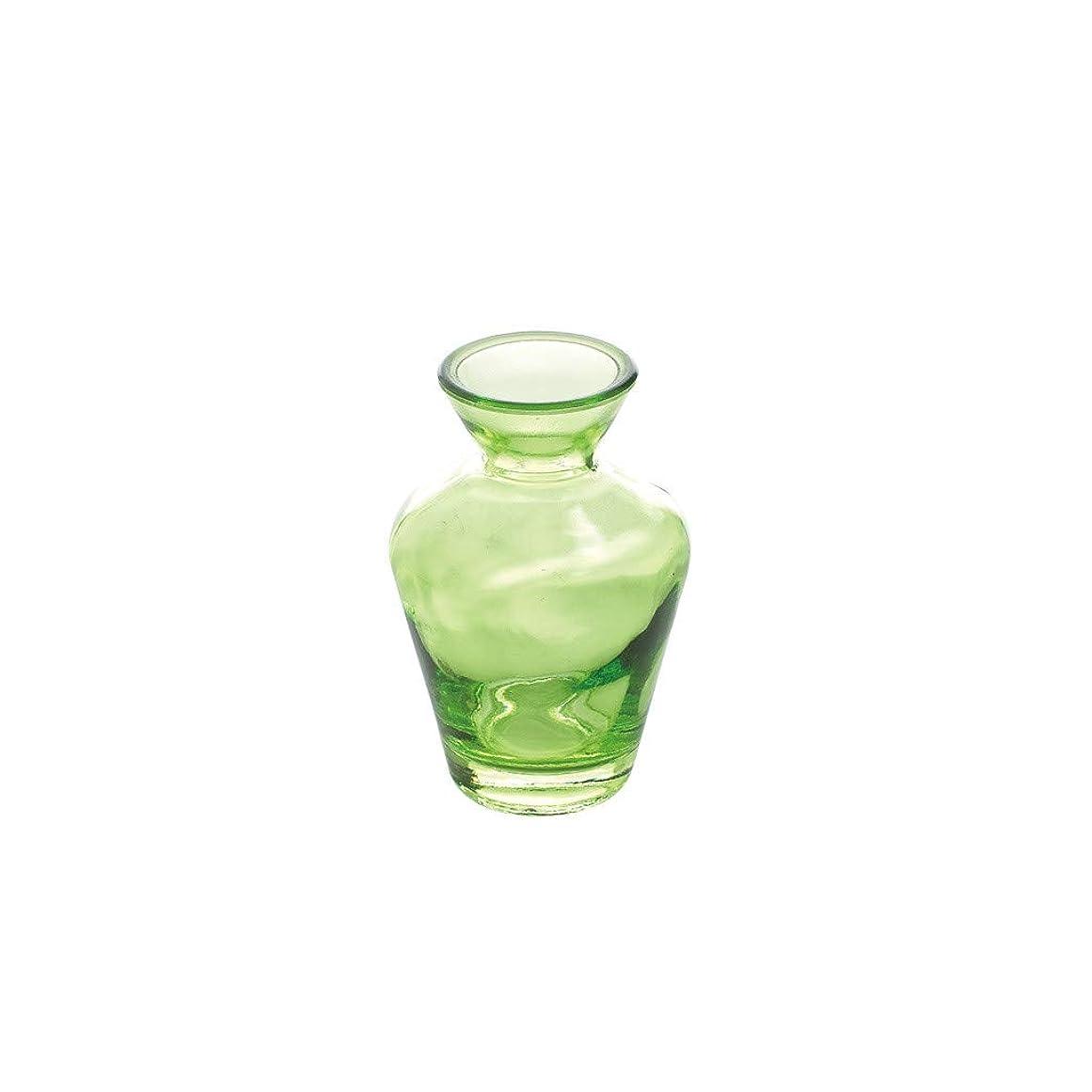 判読できない鉄道啓発するSPICE OF LIFE(スパイス) 花瓶 タイニー ガラス フラワーベース No.03 グリーン 直径6.5cm 高さ10.5cm NALG5030GR