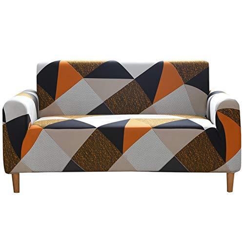DZYP Fundas de sofá, tejido elástico de seda leche, transpirable, cómodo, agradable al tacto, impermeable, funda de sofá (P-5, 2 plazas)