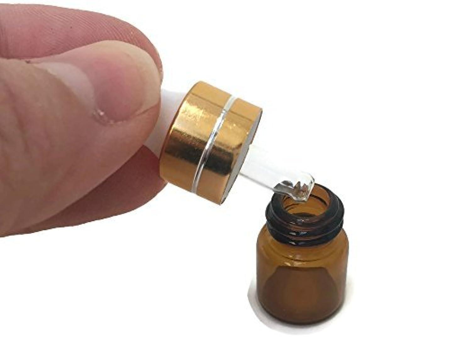 無視アドバイス名誉あるMiniature 1/4 Dram 1mL Glass Dropper Bottles for Essential Oils from. Amber Glass to Protect Sensitive Oils. Gold top is the perfect gift for any special occasion. (10 Pack) [並行輸入品]