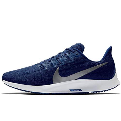 Nike Air Zoom Pegasus 36, Zapatillas de Atletismo Hombre, Multicolor (Blue Void/Metallic Silver/Coastal Blue 401), 43 EU