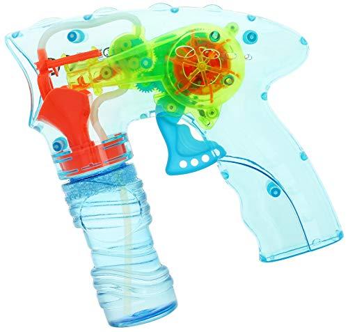 com-four® Pistola Sparabolle di Sapone con Luce LED e Acqua Saponata - Macchina Sparabolle di Sapone per Bambini e Adulti [Selezione del Colore Varia] (1 Pezzo - colorato)
