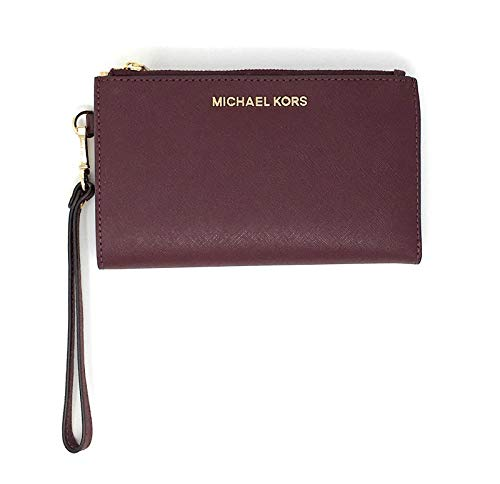 Michael Kors Jet Set Travel Large Double Zip Wristlet - Merlot, Medium