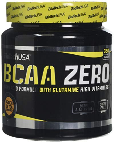 Bio Tech USA BCAA Zero Supplement, 360 g, Peach Ice Tea