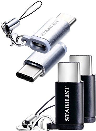 USB type-C 変換アダプター 4個 micro USB to USB-C type c 変換 マイクロ usbc コネクタ 充電 セット タイプc プラグ アダプタ ケーブル