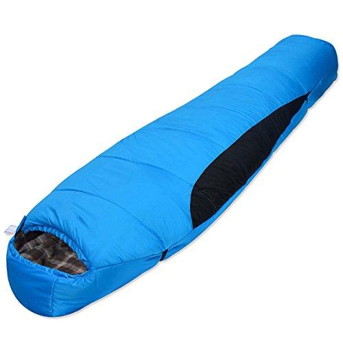 QFFL shuidai Sac de Couchage Momie/Splicable / léger/Adulte Sac de Couchage en Coton d'hiver en Plein air (3 Couleurs Disponibles) (210 * 80cm) (Couleur : Bleu)