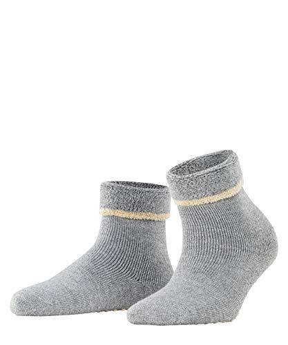 ESPRIT Damen Cosy Homepads 2 W HP Hausschuh-Socken, Grau (Mid Grey Melange 3530), 35-38 (2er Pack)