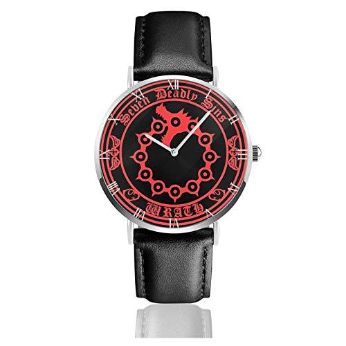 Los Siete pecados Capitales El Pecado de la ira del dragón Meliodas Relojes Unisex Reloj de Moda ultradelgado