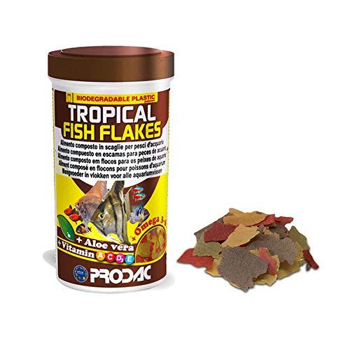 Prodac Tropical Nourriture en flocons pour poissons tropicaux 250 ml 50 gr