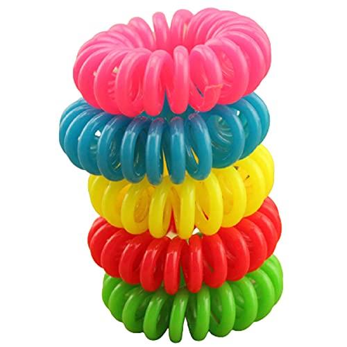 10 bandas de goma para el cabello con forma de espiral, bandas elásticas para el cabello, accesorios para el cabello, lazos para el cabello, goma de goma y cable telefónico.