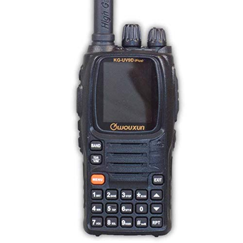 WOUXUN KG-UV9D Plus Walkie Talkie amateurfunk transceiver 2m 70cm Dualband VHF UHF wasserdicht IP55 handfunkgerät mit USB Programmierkabel und 2 Akku (2000/3200mAh)