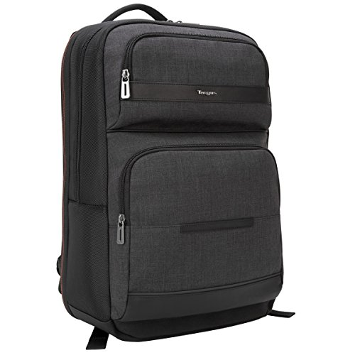 Targus CitySmart Advanced Travel Business Commuter Checkpoint-Friendly Laptop Backpack with Multiple Pockets, Back Panel Support, Trolley Strap, Protective Sleeve for 15.6-Inch Laptop, Gray (TSB894)