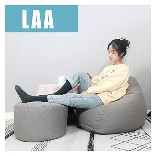 LAA Bean Bag + Pedal For Uso Interior Y Exterior, Ideal For Jugar Y Jardín Puf Bolsa Frijoles Puff (Color : Moon Rock Gray, Size : 100 * 110cm)