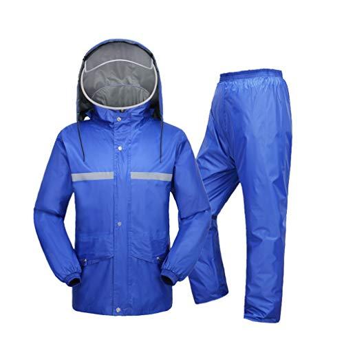 Impermeable Sportswear traje de lluvia para hombres y mujeres reutilizable (conjunto de chamarra de lluvia y pantalones de lluvia) para adultos, imper