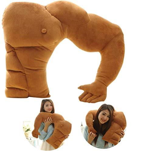 Demarkt Muskel Freund Plüsch Kissen Körper Arm Support Kissen Körper Schlaf Kissen Warm Plüsch Spielzeug Boyfriend Kuschelkissen