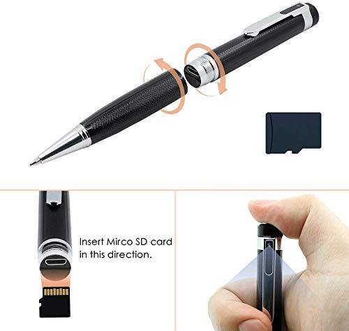 Mini Stifte Kamera 32GB HD 1080p Tragbare Kleine Überwachungskamera für Home Office Überwachung Nanny Cam Unterstützung Bewegungserkennung mit 5 Tinte Fills Inc