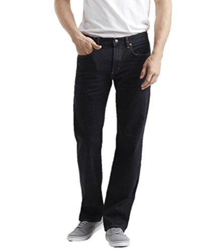 Aeropostale Mens Straight Dark Wash Stretch Jeans 28W x 30L Blue