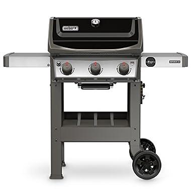 Weber 45010001 Spirit II E-310 3-Burner Liquid Propane Grill, Black