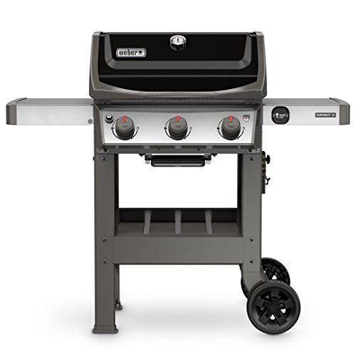 Weber 45010001 Spirit II E-310 3-Burner Liquid Propane Grill, Black  - a Assembly Eligible Features for Free garden Grill Grills Home Kitchen lawn Monthly patio Payments Products Propane Service UDS with