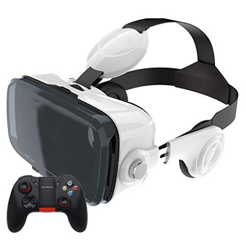 DUHUI VR Brille Headset Virtual Reality Headsets VR Goggles Gläser 110 ° FOV für 3D VR-Filme Videospiele für iPhone 12/Pro/Max/XR/11/X/Xs/8p/7p Kompatibel für Samsung Android-Telefone 4,7'-6.53'