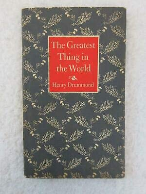 Henry Drummond THE GREATEST THING IN THE WORLD Boyd Hanna Peter Pauper Press
