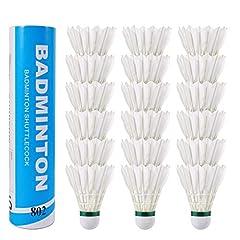 Fostoy 18 Stück Gänsefeder Badminton
