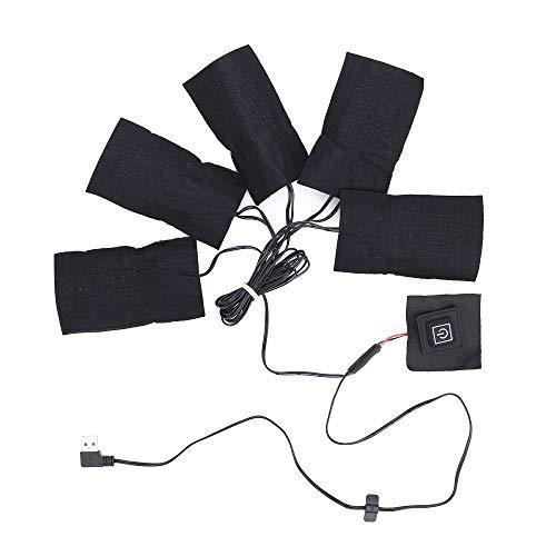 ZENING Calentador de ropa Calentador de calefacción eléctrica almohadillas chaleco duradero USB