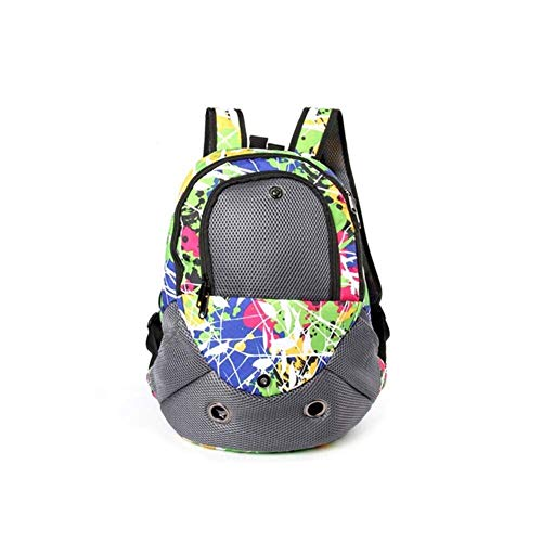 WWQQ Dog Bed Dog Shoulders Backpack, Pet Front Chest Type Backpack Portable Folding and Breathable Oxford Cloth Suitable for Travel Hiking Outdoor