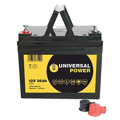 Universal Power 12-36 12V 36Ah AGM Batterie für Scooter Elektromobile
