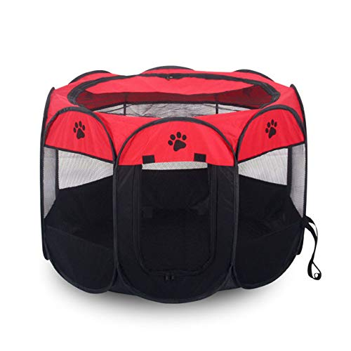 "ZDJR Portable Pet Puppy Dog Cat Animal Playpen,The Best Indoor and Outdoor Pen. with Cary Bag,Easily Sets Up & Folds Down,Small(28""x28""x17"")"