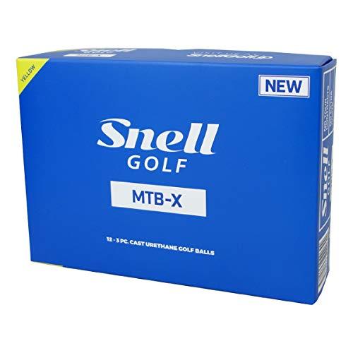 スネルゴルフ(Snell Golf) ゴルフボール MTB-X ゴルフボール 1ダース(12球入) イエロー