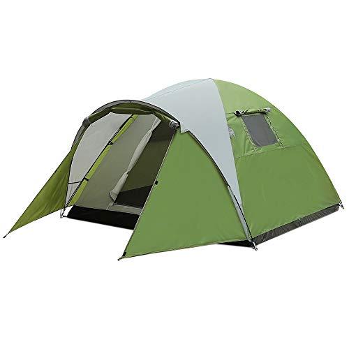 YANKK Wasserdichtes Iglu Doppeldachzelt 3-4 Personen Biwakzelt Sonnenschutzzelte für Sport Camping Wandern Reisen Strand, 210 * 210 * 130 cm