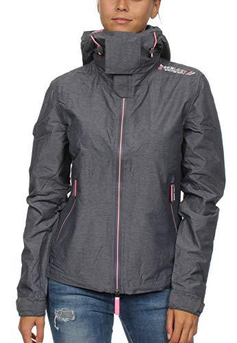Superdry Arctic Hooded Cliff Hiker Veste de Sport, Gris (Nimbus Grey Marl/Cotton Candy Xg3), X-Small (Taille Fabricant: 8.0) Femme