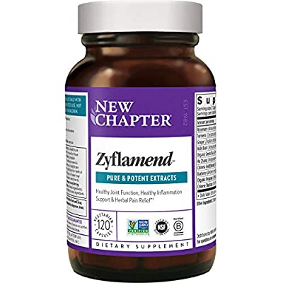 New Chapter Multi-Herbal + Joint Supplement, Zyflamend Whole Body for Healthy Inflammation Response, Vegetarian Capsules, 120 Count (Pack of 1) by New Chapter