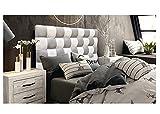 ONEK-DECCO Cabecero de Cama, tapizado en Polipiel Mod. Kansas Patchwork 2 Colores Blanco-Plata para Cama de niño, Juvenil y Matrimonio (Diferente COMBINACIÓN, 165X70)