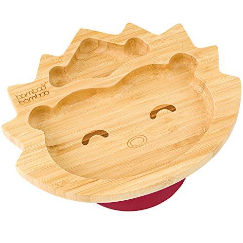 bamboo bamboo® Teller mit Saugnapf, Igel für Babys und Kleinkinder