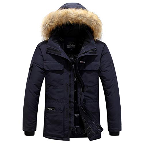 Best Price Men Coats Jackets with Faux Fur Trim Hood SFE Winter Lightweight Padding Thick Warm Outdo...