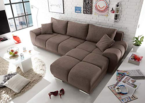 Froschkönig24 Anton Ecksofa 289x189 cm Couch Eckcouch Sofa Braun