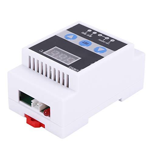 Fltaheroo Tmc-6000 110-240V Termorregulador de Carril Guía Controlador de Temperatura Digital Termostato Control de Temperatura de Calentamiento Refrigeración
