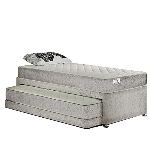 Home Furnishings UK Hf4you 13.5g Bonnel Sprung Crushed Velvet Guest Bed -...